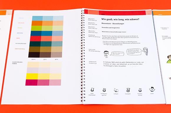 Farbgebung und Typografie