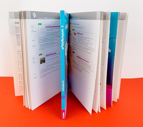 Gedruckte Bücher der entworfenen Reihe