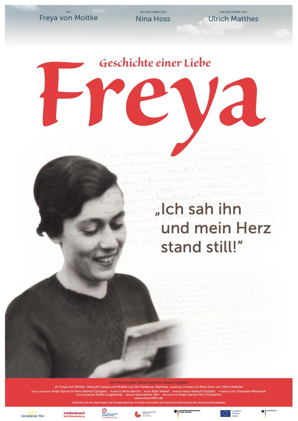 Kinoplakat für den Film Freya – Geschichte einer Liebe