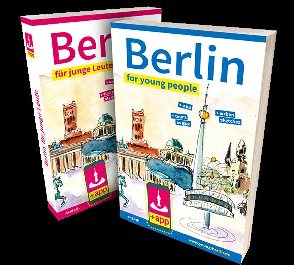 Zwei Taschenbücher: Berlin for young people und Berlin für junge Leute