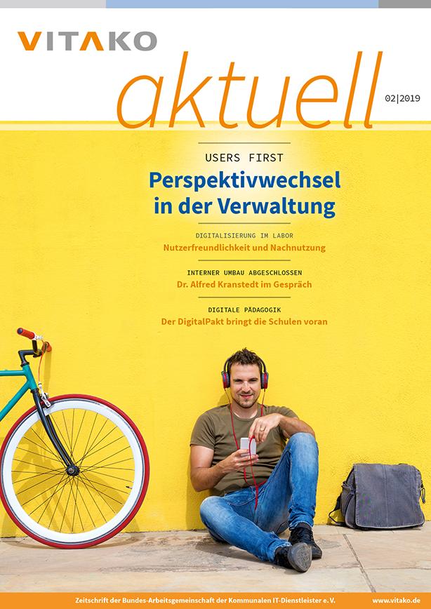 Titelseite der verbandszeitschrift vitako aktuell Nummer 2, 2019